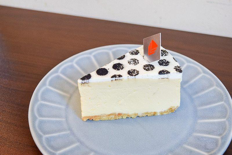 ニューヨークチーズケーキ横から